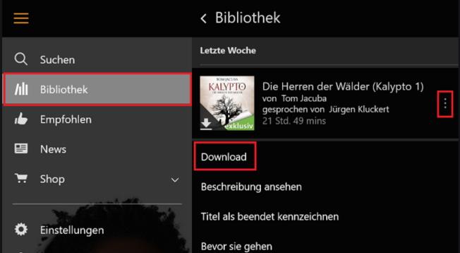 Bibliothek Download