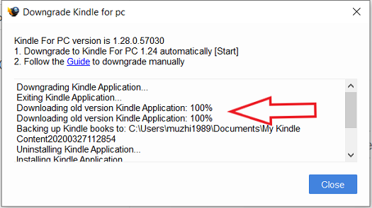 Auto-Downgrade kindle4pc