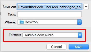 Audible in finder