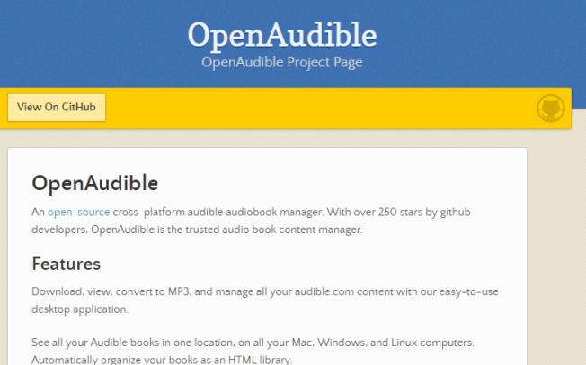 OpenAudible Hörbuch-Manager