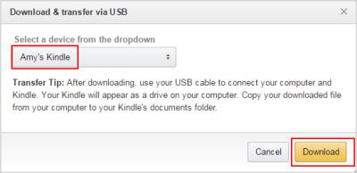 übertragen Sie heruntergeladene Kindle-Dateien